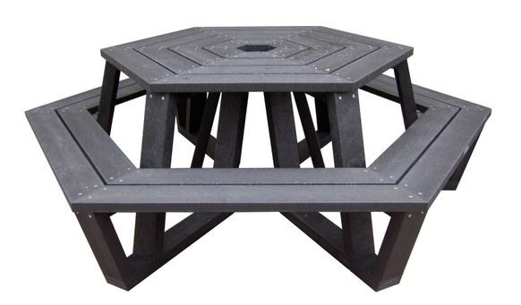picknicktafel zeshoek rekupro